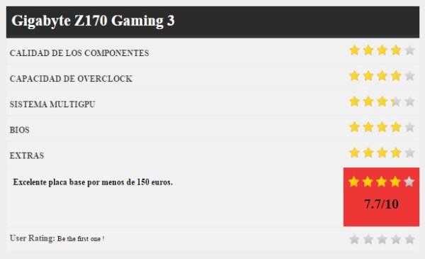 GIGABYTE Z170 gaming 3